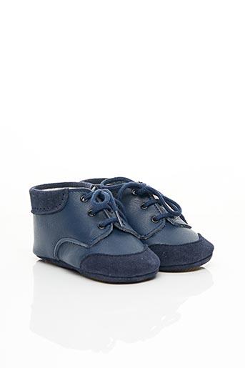 Chaussons/Pantoufles bleu PATT'TOUCH pour enfant