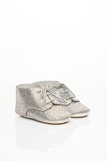 Chaussons/Pantoufles gris PATT'TOUCH pour fille