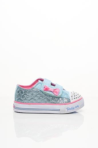 Baskets bleu SKECHERS pour fille