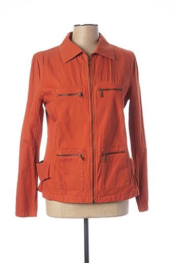 Veste casual orange FELINO pour femme