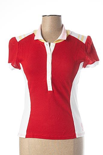 Polo manches courtes rouge FREEMAN T.PORTER pour femme