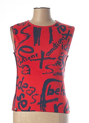 Débardeur rouge DESIGUAL pour femme
