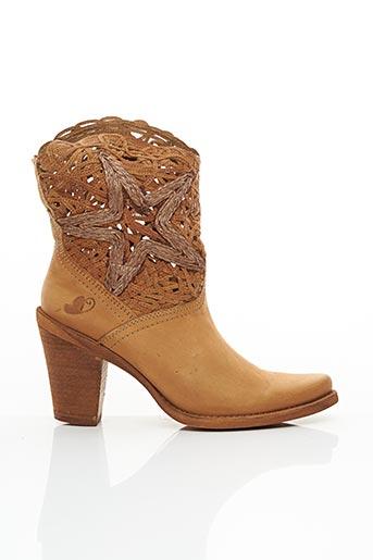 Bottines/Boots beige FELMINI pour femme