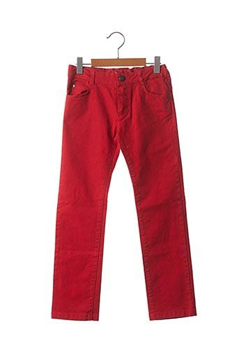 Jeans coupe droite rouge MARESE pour garçon