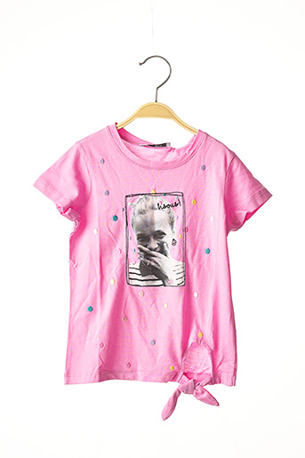 T-shirt manches courtes rose MARESE pour fille