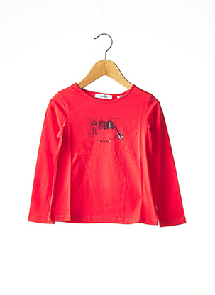 T-shirt manches longues rouge MARESE pour fille