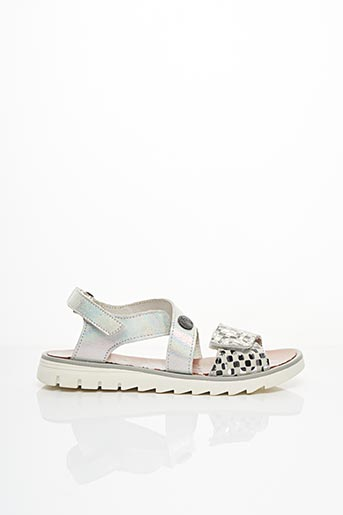 Sandales/Nu pieds gris ACHILE pour fille