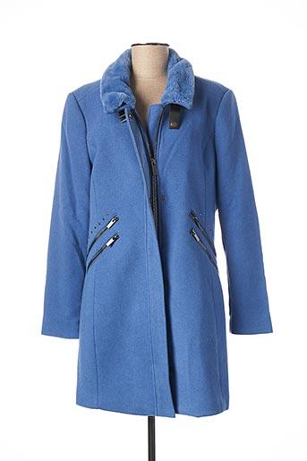 Manteau long bleu BOCA BOKA pour femme