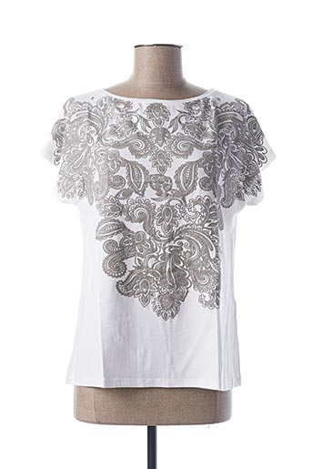 T-shirt manches courtes blanc COWEST pour femme