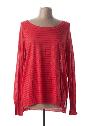Pull col rond rouge EVA KAYAN pour femme