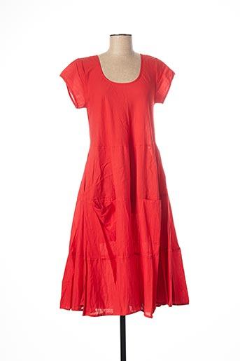 Robe mi-longue rouge DRESS ADDICT pour femme