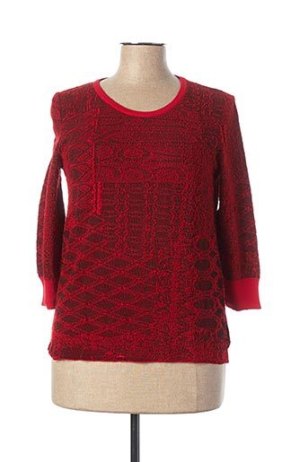 Pull col rond rouge ALDOMARTINS pour femme