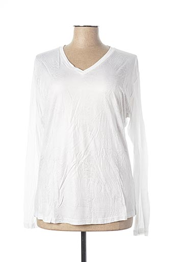 T-shirt manches longues blanc EVA KAYAN pour femme