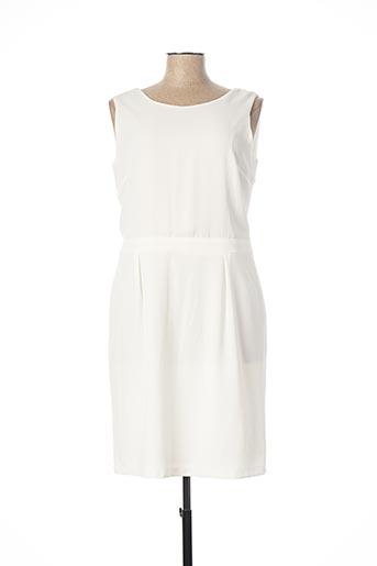 Robe mi-longue blanc ANDAMIO pour femme