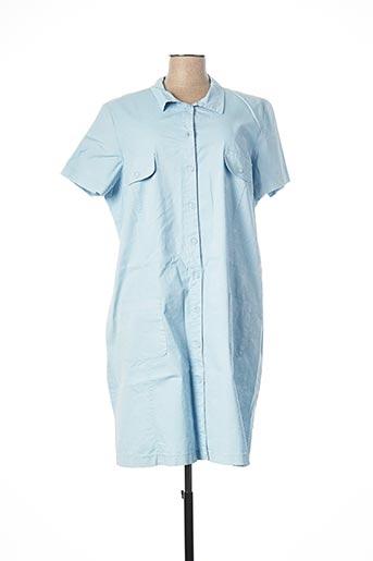 Robe mi-longue bleu COWEST pour femme