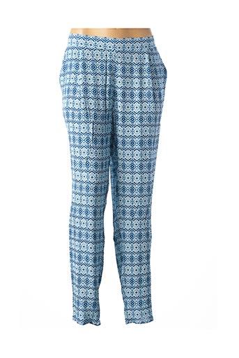 Pantalon casual bleu EL INTERNATIONALE pour femme