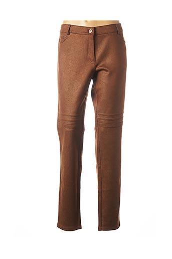 Pantalon casual marron ANDAMIO pour femme