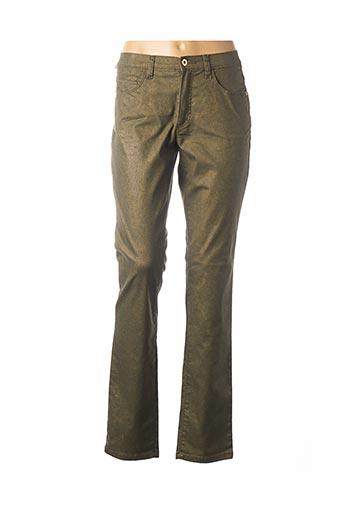 Pantalon casual marron BRUNO SAINT HILAIRE pour femme
