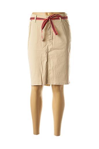 Jupe mi-longue beige COWEST pour femme
