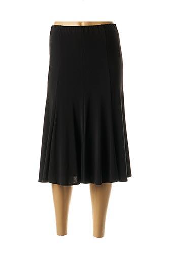 Jupe mi-longue noir ERFO pour femme
