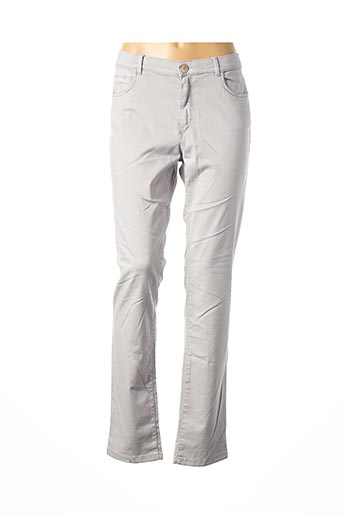 Pantalon casual gris BRUNO SAINT HILAIRE pour femme