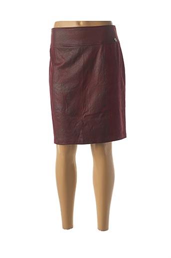 Jupe mi-longue rouge LE PETIT BAIGNEUR pour femme