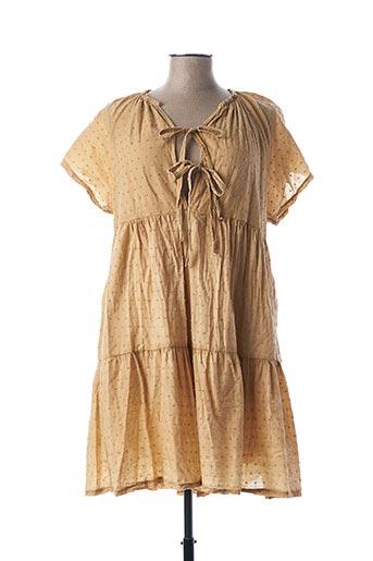 Robe mi-longue marron BY COCO pour femme