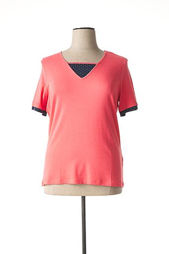 T-shirt manches courtes rose CONCEPT K pour femme