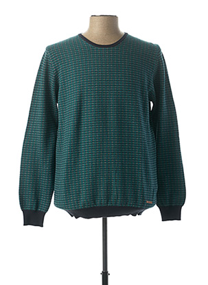 Pull col rond vert BROWN JURY pour homme
