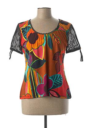 T-shirt manches courtes orange LOLESFILLES pour femme