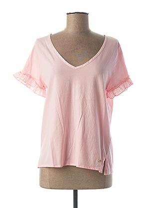 T-shirt manches courtes rose JOCAVI pour femme