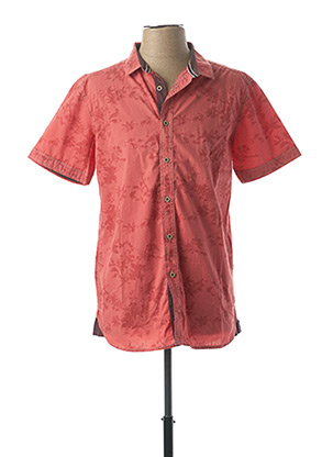 Chemise manches courtes rose PADDOCK'S pour homme