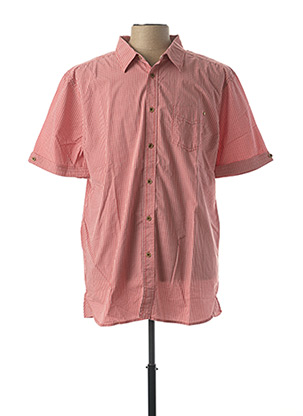 Chemise manches courtes rouge PADDOCK'S pour homme