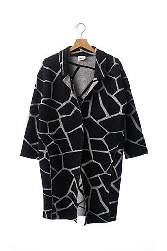 Manteau long noir CIRCUS HOTEL pour femme