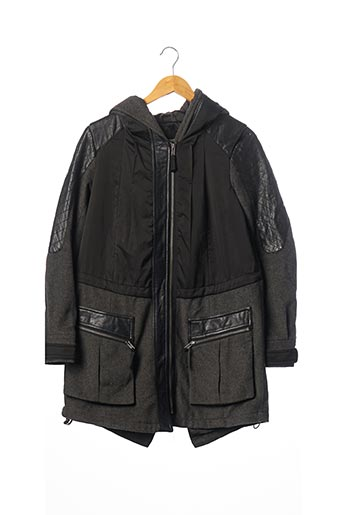 Manteau long noir ASOS pour femme