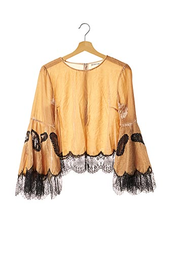 Pull col rond beige ALICE+OLIVIA pour femme