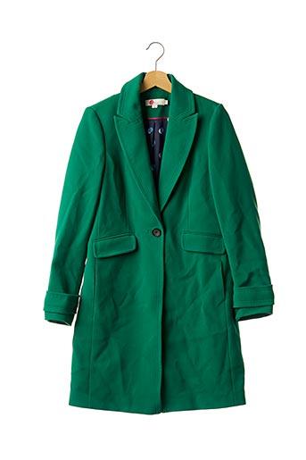 Manteau long vert BODEN pour femme