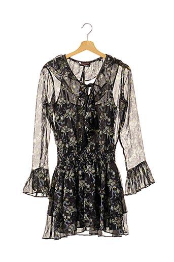 Robe mi-longue noir THE KOOPLES pour femme