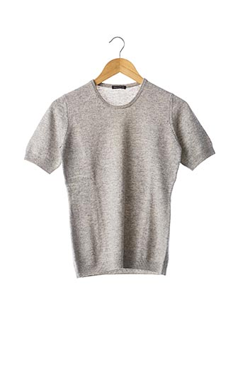 Pull col rond gris BALLANTYNE pour femme