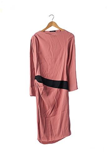 Robe mi-longue rose CLIPS pour femme