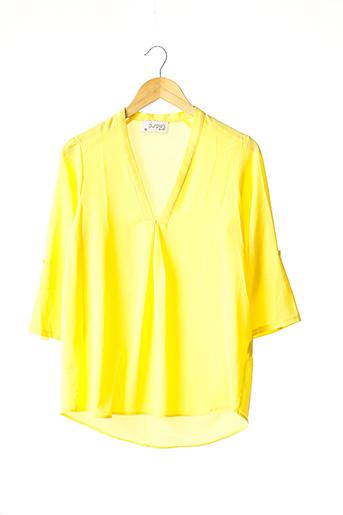 Blouse manches longues jaune PURPLE'S pour femme
