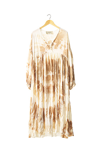 Robe mi-longue beige CHANTAL B. pour femme