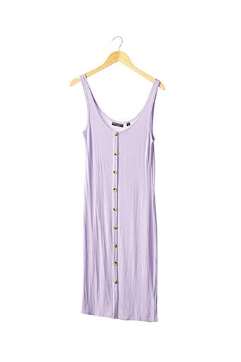 Robe mi-longue violet BRAVE SOUL pour femme