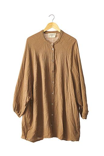 Tunique manches longues marron CHANTAL B. pour femme
