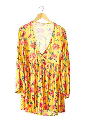 Robe courte jaune BILLABONG pour femme