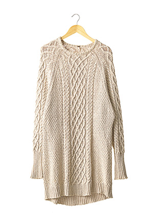 Robe pull beige FREE PEOPLE pour femme