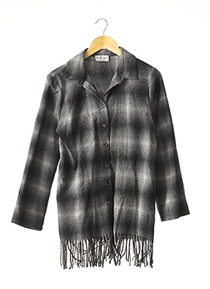 Veste casual gris PRETTY WIRE pour femme