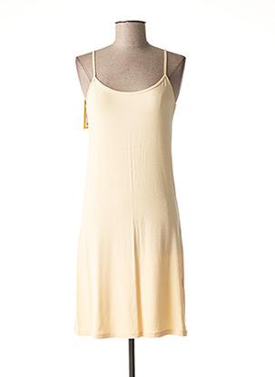 Jupon /Fond de robe beige LA FEE MARABOUTEE pour femme