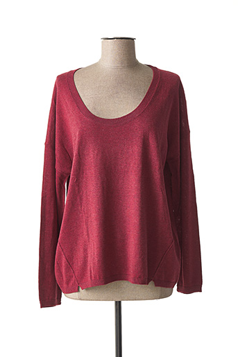 Pull col rond rouge ZAPA pour femme
