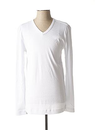 T-shirt manches longues blanc GIORGIO DIMARE pour homme
